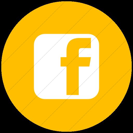 Yellow Facebook Icon