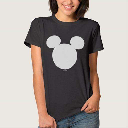 Disney Logo White Mickey Icon T Shirt Disney Logo