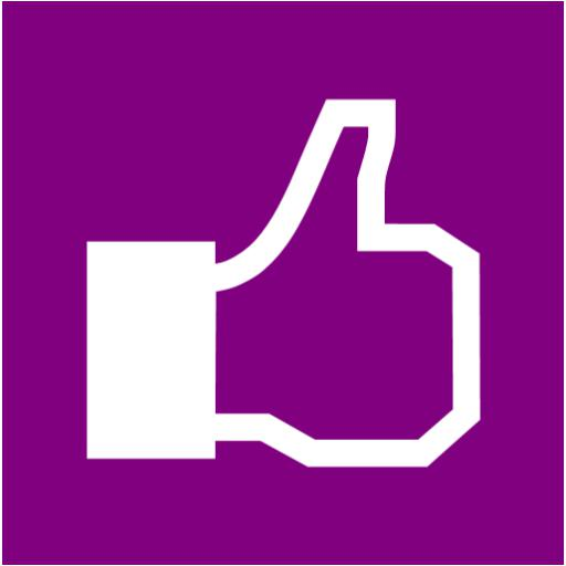 Purple Facebook Icon Images