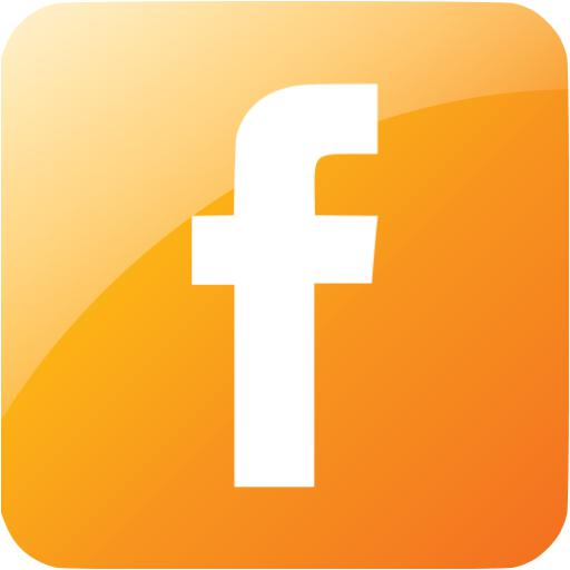 Orange Facebook Icon Free Icons