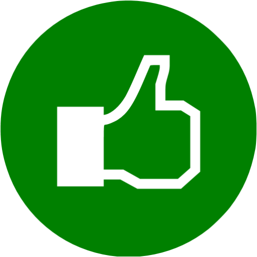 Green Facebook Like Icon