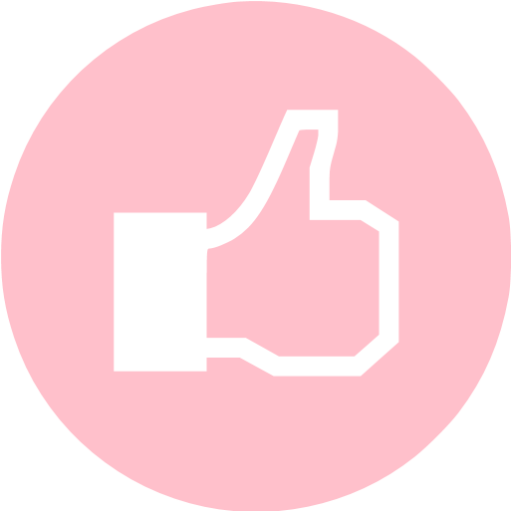 Pink Facebook Like Icon