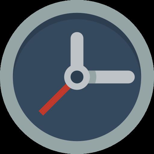 Clock Icon Small Flat Iconset Paomedia