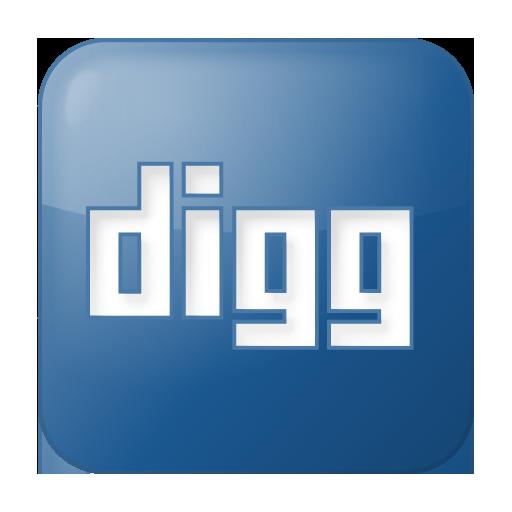 Social Digg Box Blue Icon