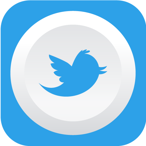 Twitter Icon Rounded Flat Social Iconset Graphicloads