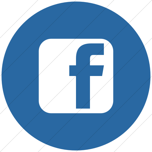 Flat Circle White On Blue Social Media Facebook Square Icon