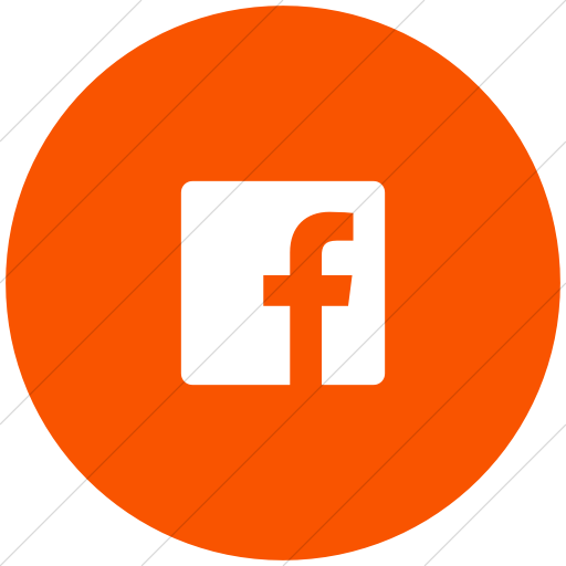 Flat Circle White On Orange Foundation Social