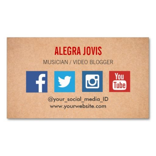 Facebook And Instagram For Business Card Logo