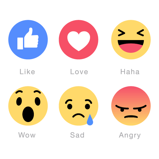 Facebook Like And Love Buttons Transparent Png Clipart Free