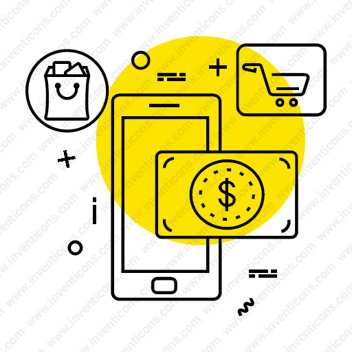 Download Online,paymet,secure,card,shopping,dollar,mobile Icon