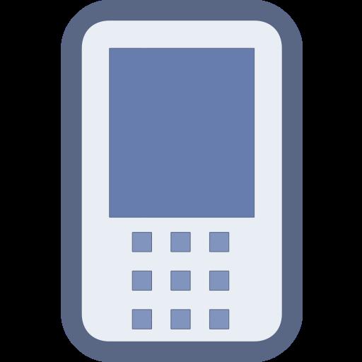 Social Media Mobile Lavender Icon