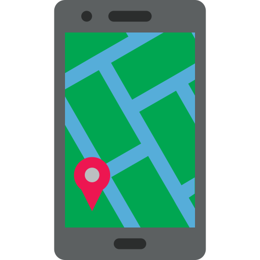 Gps, Location, Mobile, Phone, Smartphone Icon Free Of Colored