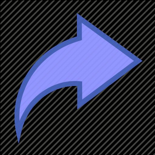 Arrow, Facebook, Share Icon