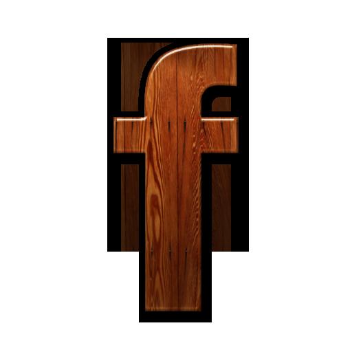 Facebook, Logo, Wooden Icon