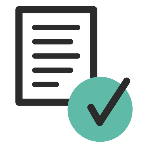 Verified Document Colored Stroke Icon