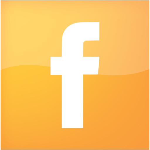 Web Orange Facebook Icon