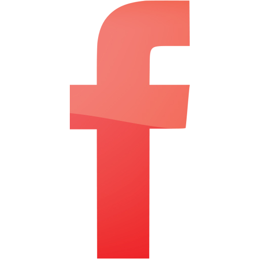 Web Red Facebook Icon