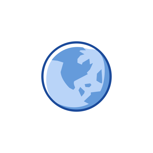 Earth, Globe, Notification, World Map Icon