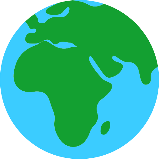 Earth Globe Europe Africa Emoji For Facebook, Email Sms Id