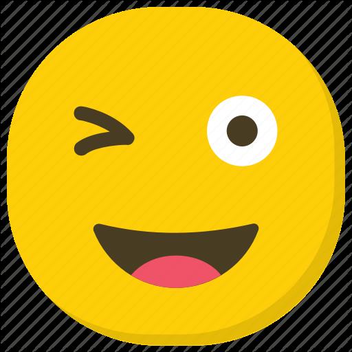 Emoticon, Facial Expressions, Naughty Face, Smiley, Winking Emoji Icon