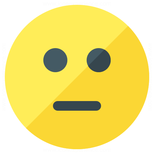 Iconexperience G Collection Emoticon Straight Face Icon