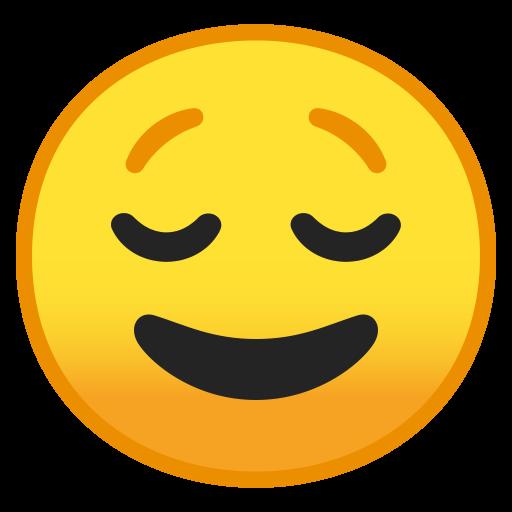 Relieved Face Icon Noto Emoji Smileys Iconset Google
