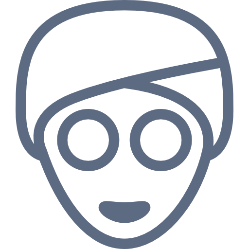 Grey, Face, Mask Icon Free Of Hotel And Spa Icons