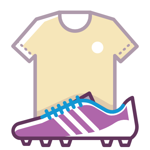 Football, T Shirt And Football Boots, Facilities Icon Free