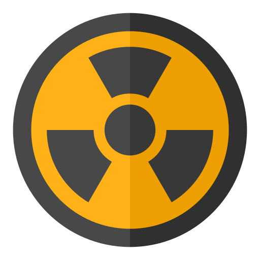 Radioactive, Frame, Flat Icon Free Of Snipicons Flat