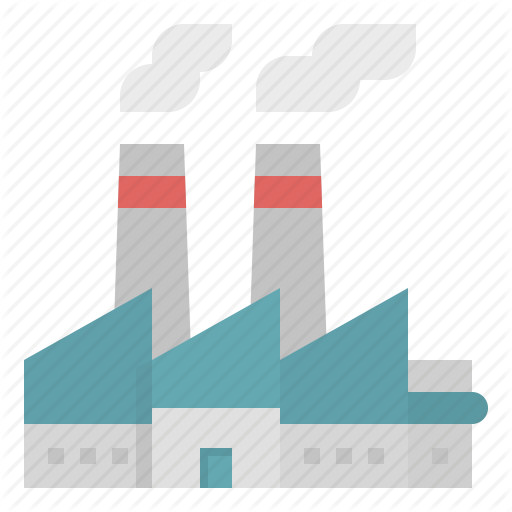 Building, Factory, Industrial, Industry, Pollution Icon
