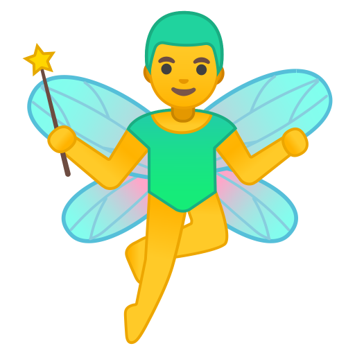 Man Fairy Icon Noto Emoji People Stories Iconset Google