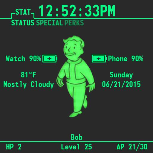 Fallout Pip Boy Watch Square For G Watch
