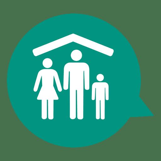 Family House Real Estate Icon