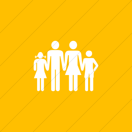 Flat Square White On Yellow Classica Family Icon