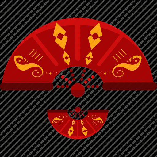 China, Chinese, Fan Icon