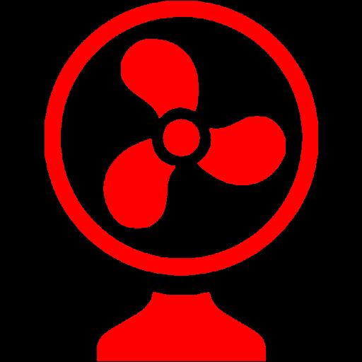 Red Fan Icon