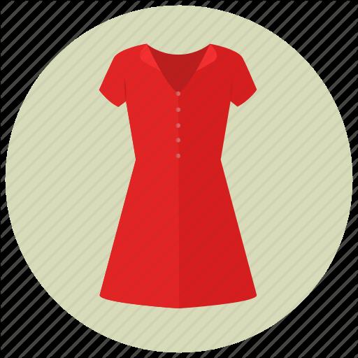 Clothes, Dress, Fancy, Fashion, Red, Short Dress, Women Icon