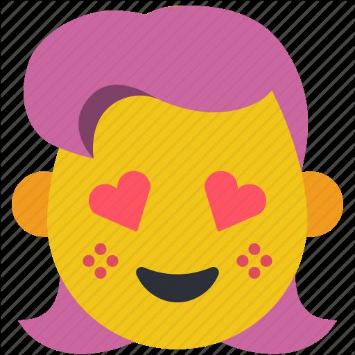 Emojis, Fancy, Flirt, Girl, Hearts, Love Icon