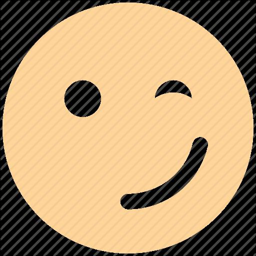 Emoticons, Expression, Fancy, Happy Smiley, Smile, Smiley, Wink