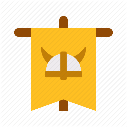Fancy, Flag, Game, Medieval, Nation, United, Viking Icon
