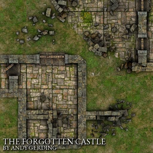 Castle Ruins Rpg Map Designed For To Create Endless