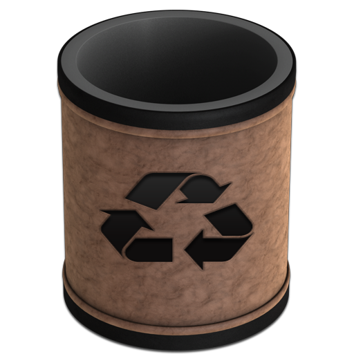 Empty Leather Recycling Icon