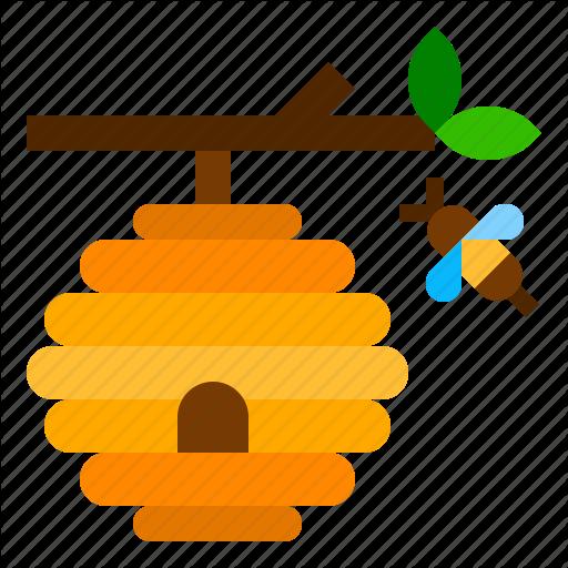 Bee, Beehive, Farm, Honey Icon