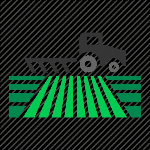 Crop, Farm, Farming, Field, Plow, Plowing, Tractor Icon