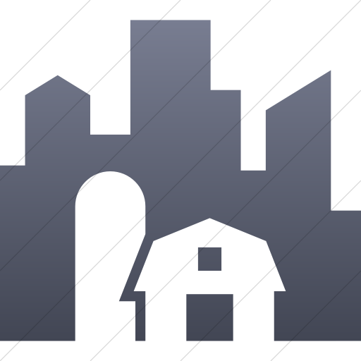 Simple Blue Gray Gradient Iconathon Urban Farm Icon