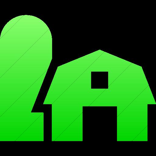 Simple Ios Neon Green Gradient Iconathon Farm Icon