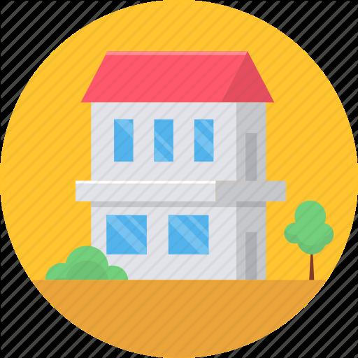 Building, Farm House, Farmhouse, Home, House, Property, Village Icon