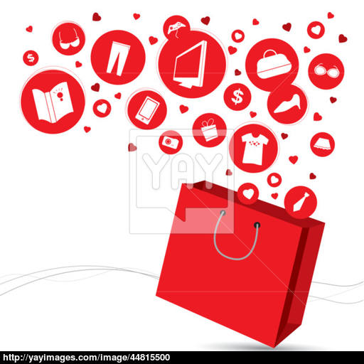 Shopping Bag And Fashion Icon Design Vector