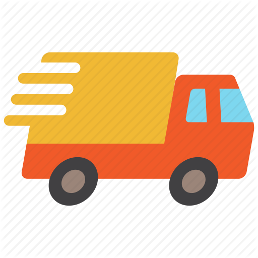 Delivery, Express, Fast, Quick, Transport, Truck, Vehicle Icon