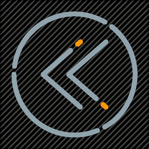 Arrow, Backward, Circle, Fast Icon
